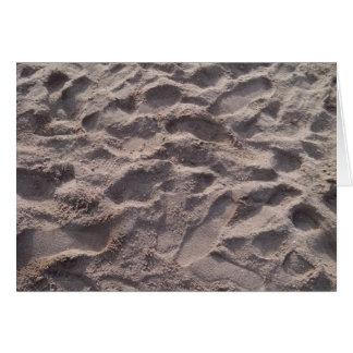 Añada su propio texto, escribiendo en arena, playa tarjeta de felicitación