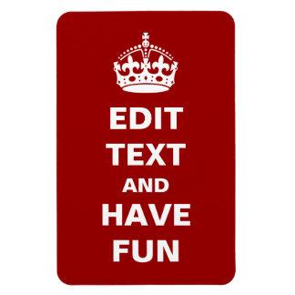 Añada su propio texto iman rectangular