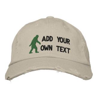 Añada su propio texto logotipo de Bigfoot Gorra De Beisbol