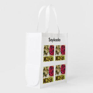 Añada su propio tote reutilizable de las imágenes bolsas para la compra