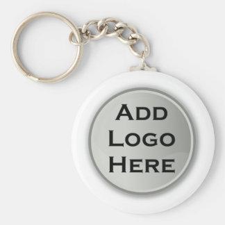 Añada su regalo corporativo del logotipo llavero redondo tipo pin