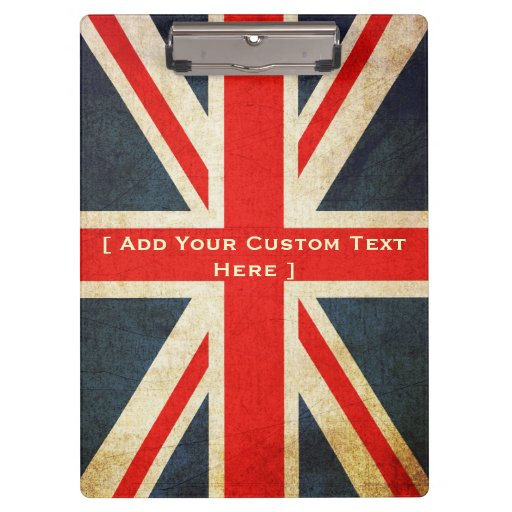 Añada su tablero de encargo de Union Jack del