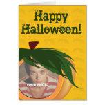 Añada su tarjeta de Halloween de la foto