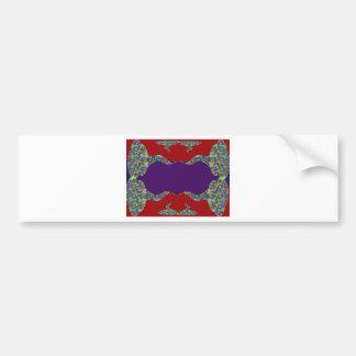 Añada su texto - beso oriental mi diseño de los la pegatina de parachoque
