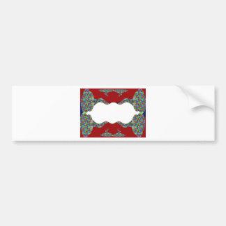Añada su texto - beso oriental mi diseño de los la etiqueta de parachoque