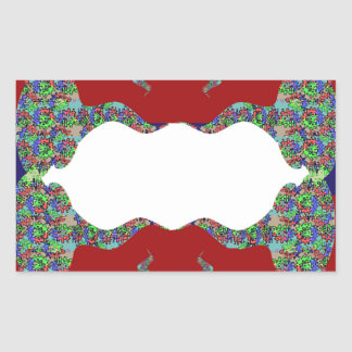 Añada su texto - beso oriental mi diseño de los pegatina rectangular