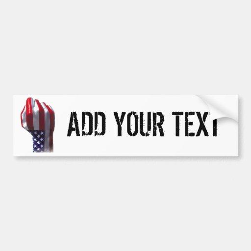 Añada su texto pegatina para auto