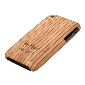 Añada su valla de estacas de madera conocida funda bareyly there para iPhone 3 de Case-Mate