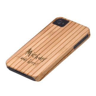 Añada su valla de estacas de madera conocida iPhone 4 fundas