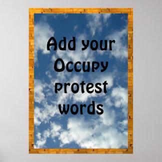 Añada su voz PARA OCUPAR protesta Impresiones