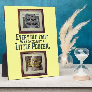 Añada sus fotos - viejas Fart y poco Pooter Placas De Madera