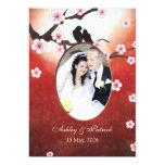 Añada sus pájaros del amor de Sakura de la flor de Anuncios Personalizados