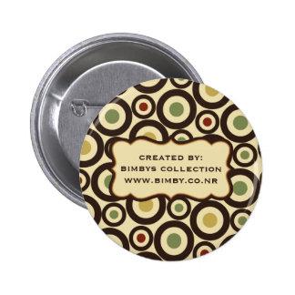 Añada sus propios botones del modelo del círculo d pin redondo de 2 pulgadas