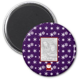 Añada sus propios copos de nieve de la púrpura de  imanes de nevera