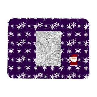 Añada sus propios copos de nieve de la púrpura de  iman