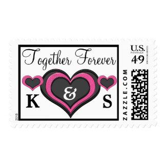 Añada sus sellos de las iniciales juntos para siem
