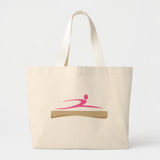 Añada un bolso conocido de la gimnasia bolsa de tela grande