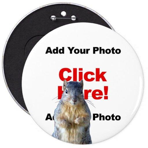 Añada un botón de encargo de la foto de la ardilla pin
