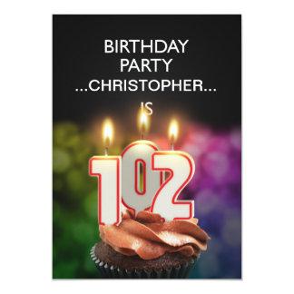 Añada un nombre, 102a invitación de la fiesta de