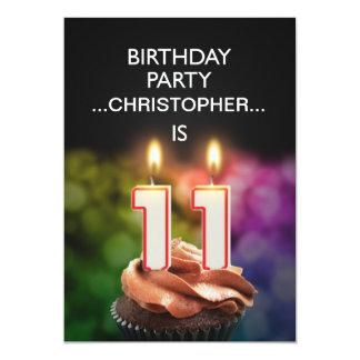 Añada un nombre, 11ma invitación de la fiesta de invitación 12,7 x 17,8 cm