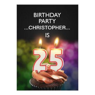 Añada un nombre 25ta invitación de la fiesta de c