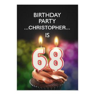 Añada un nombre, 68.a invitación de la fiesta de