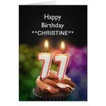 Añada un nombre, 77.a tarjeta de cumpleaños