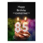 Añada un nombre, 85a tarjeta de cumpleaños
