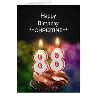 Añada un nombre, 88.a tarjeta de cumpleaños