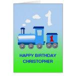 Añada un nombre a una 1ra tarjeta de cumpleaños
