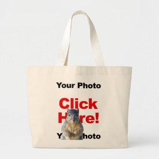 Añada una bolsa de asas de encargo de la foto de l