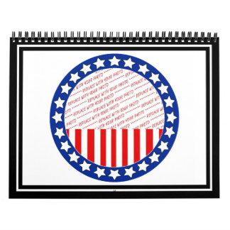 Añada una foto de su candidato - plantilla de la calendarios de pared