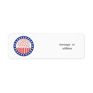 Añada una foto de su candidato - plantilla de la etiqueta de remitente