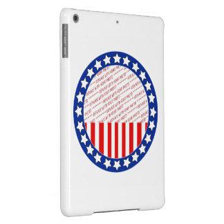 Añada una foto de su candidato - plantilla de la funda para iPad air