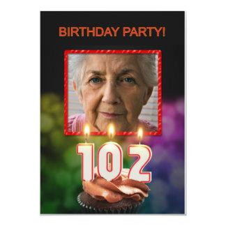 Añada una imagen, 102a invitación de la fiesta de