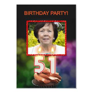 Añada una imagen, 51.a invitación de la fiesta de