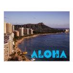 Añada una postal hawaiana de la foto de las vacaci