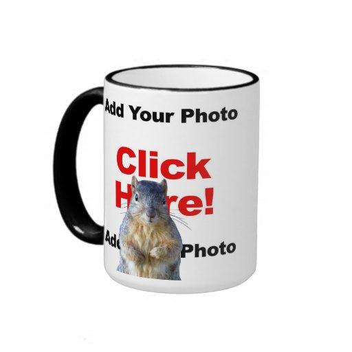 Añada una taza de encargo de la foto de la ardilla