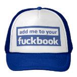 añádame a su facebook gorro de camionero
