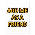 Añádame como amigo postal