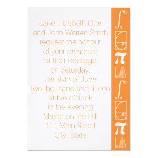 Añade para arriba en la invitación anaranjada del