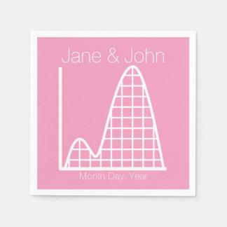 Añade para arriba en servilletas del rosa del servilleta de papel