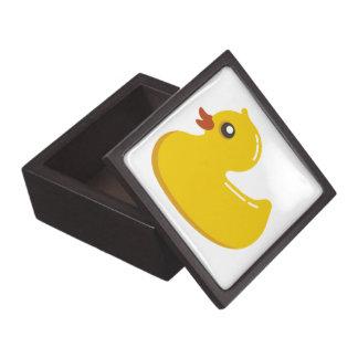 Anadón amarillo lindo caja de joyas de calidad