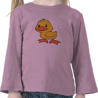 Anadón amarillo lindo feliz camisetas