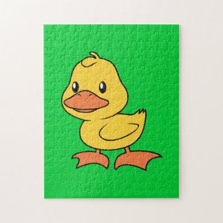 Anadón amarillo lindo feliz puzzles con fotos