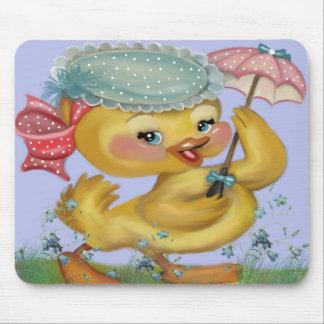 anadón con el parasol tapete de ratón