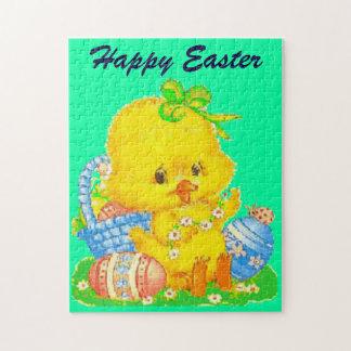 Anadón de Pascua del vintage y huevo de Pascua Rompecabezas