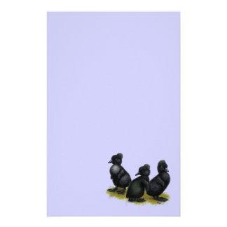 Anadones con cresta negros personalized stationery