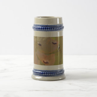 Anadones del pato silvestre - aprendiendo nadar jarra de cerveza