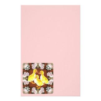 Anadones y rosas papeleria personalizada